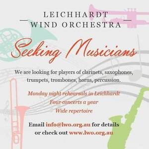 Leichhardt Wind Orchestra - Musicians Wanted!! Leichhardt Leichhardt Area Preview