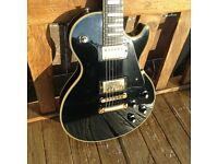 Yamaha Les Paul model, top of the range SL-700 Custom (1978, Black Beauty)