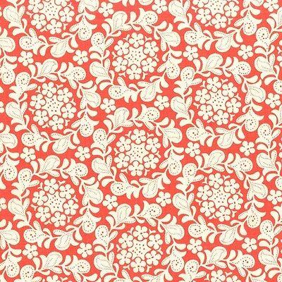 Henna Strawberry (Michael Miller Strawberry Moon Petit Henna Garden Coral Fabric BHY)