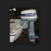1980 's 20 hp evinrude outboard motor