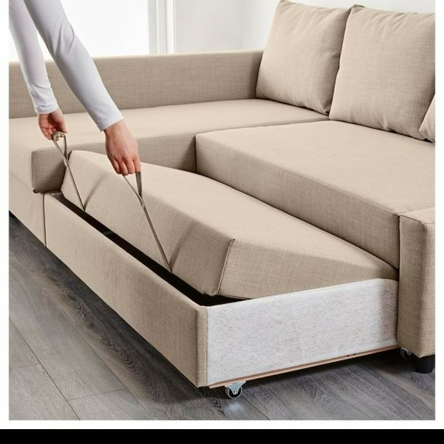 Pullout Sofa Taupe Sectional Sofa With Pullout Bed And Left Side Storage Chaise Ferriday Thesofa