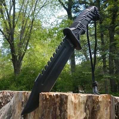 """13"""" TACTICAL SURVIVAL Rambo Hunting FIXED BLADE KNIFE Army B"""