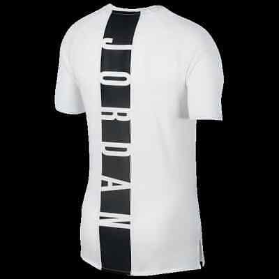 White Training Top T-shirt - Men's Jordan Training T-Shirt  Tee Top Sizes Small- 3XL