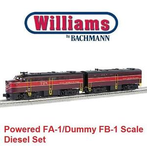 NEW BACHMANN LOCOMOTIVE SET 23203 WILLIAMS BY BACHMANN-POWERED  DUMMY FA-1/FB-1 SCALE DIESEL - TRAIN SET 106482169