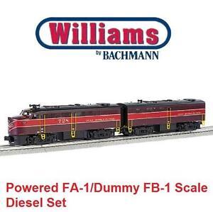 NEW BACHMANN LOCOMOTIVE SET 23203 WILLIAMS BY BACHMANN-POWERED  DUMMY FA-1/FB-1 SCALE DIESEL - TRAIN SET 106482169