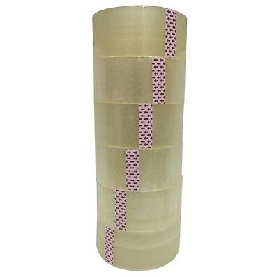 6 ROLLS CLEAR SHIPPING PACKING CARTON SEALING TAPE 2.0MIL 2