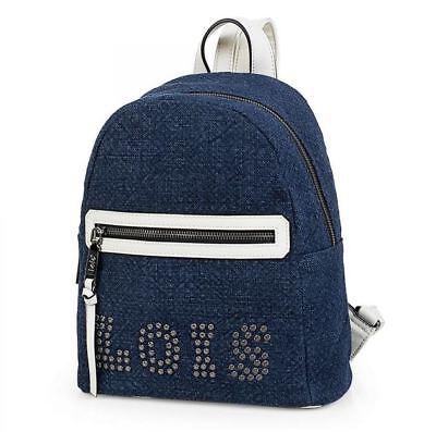 Mochila azul y blanca de la marca Lois asa superior nueva temporada...