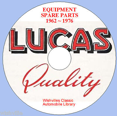 Lucas Parts Information DVD 1962 ~ 1976