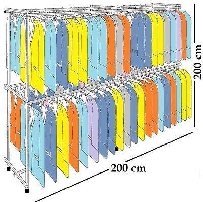 200x200x60 PROFI KLEIDERSTÄNDER WARENSTÄNDER GARDEROBE REGAL FREISTEHEND ST.04.2