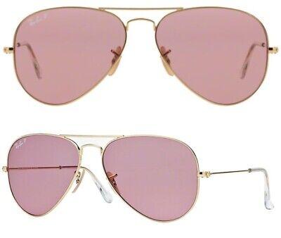 RayBan Damen Herren Sonnenbrillen RB3025 001/15 55mm Aviator polarisiert P F7 H