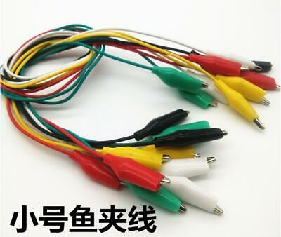 20x Head Head Small Alligator Clip Test Line Lead Jump Wire Electronic Cables