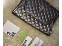 Moschino Quilted Clutch Bag 100% Genuine