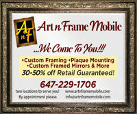 affordable custom framing & more