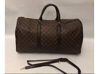 Brown lv hold all
