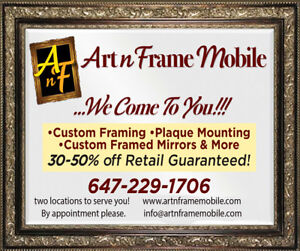LOWEST PRICE CUSTOM FRAMING & RELATED SERVICES.