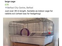 Large rabbit cage (excellent condition)