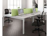 NEW BENCH DESKS - WHITE - INCREDIBLE PRICES