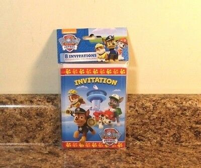 Paw Patrol Party Invites (Nickelodeon Paw Patrol Invitations Party Birthday 8 ct Supplies)