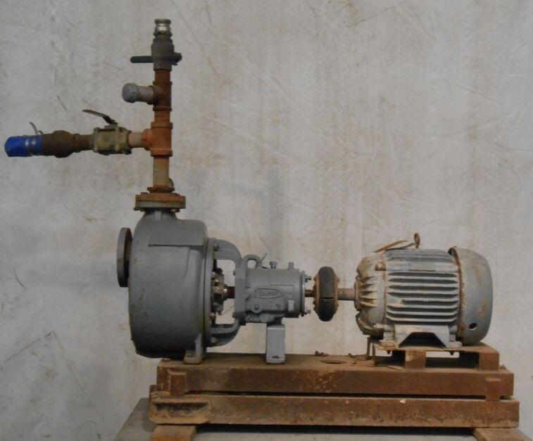 FLOWSERVE PUMP SYSTEM, 25 HP MOTOR, 1755 RPM, HERTZ 60, PHASE 3, VOLTS 230/460