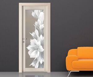 Porta interna in legno palissandro bianco wendy completa vetro decorato flower ebay - Vetro porta interna ...