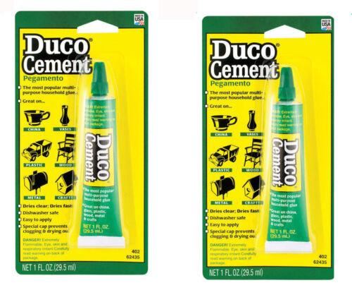 Devcon Duco 62435 Household Cement Glue 1oz. Tube - 2 PACK! NEW  (gl62435x2)