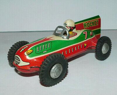 NEAT VINTAGE TIN FRICTION ROCKET RACE CAR #7