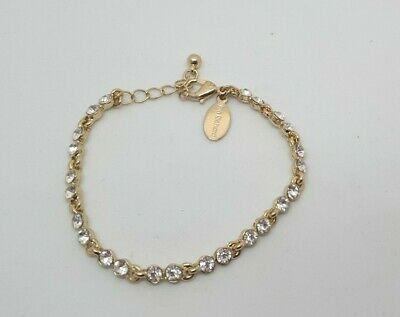 Jon Richard Gold Plated Tennis Bracelet Rrp £15 Petite