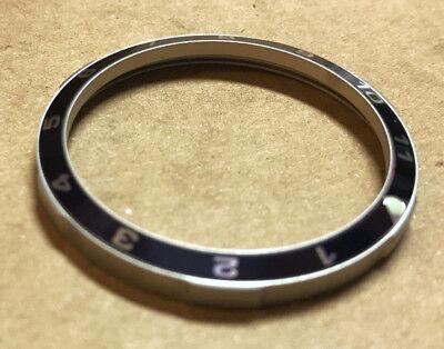 New 12 Hour Dark Blue Matte Custom Bezel For Vostok Amphibian Komandirskie Watch