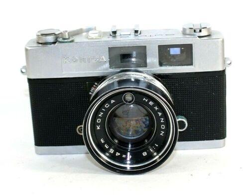 Konica Auto S2 35mm Film Rangefinder Camera Hexanon 1.8/45
