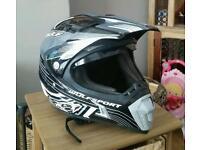 Wulf sport motocross enduro green lane motorcycle helmet