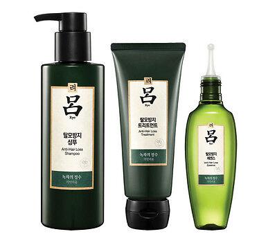 Ryo SPA Theraphy Green Tea Anti-Hair Loss Full Set (Shampoo+Treatment+Essence)