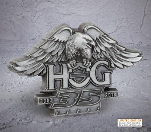 HARLEY DAVIDSON OWNERS GROUP 35TH ANNIVERSARY PIN VEST PIN 115TH HOG JACKET PIN