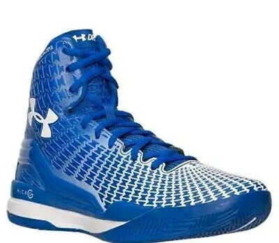 Under Armour Clutchfit Drive High Top Mens Basketball Shoes blue Micro g sz -