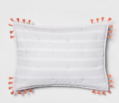 - Target Opal House Lavender Dotted Stripe Pillow Sham Gray, Standard, NEW