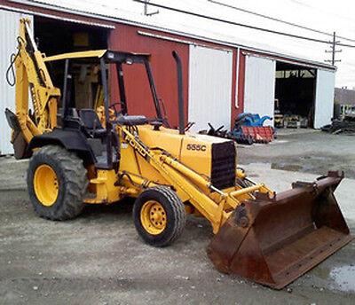 New Holland Ford Tractors 555c 655c Backhoe Loader Operators Manual Owners Cd