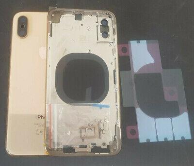 Gold Frame (Akkudeckel für Original Apple iPhone XS Gehäuse Rahmen Frame Akku Gold Neu)
