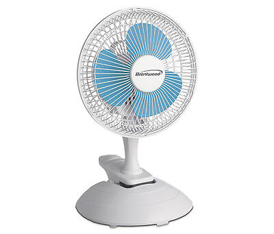 - Brentwood 6 inch 2-Speed Convertible Clip / Desk mini Fan by Kool Zone