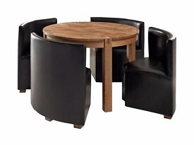 """solid oak table and chairs space saver 50"""""""
