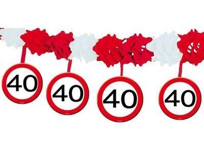 arty Girlande zum 40.Geburtstag Warnkreis Party Dekoration (40-party Dekorationen)
