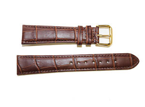 High Quality Brown Alligator  Genuine Leather Watch Band Strap 12mm~24mm