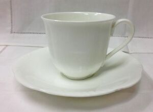 villeroy boch arco weiss teacup saucer white bone chi. Black Bedroom Furniture Sets. Home Design Ideas