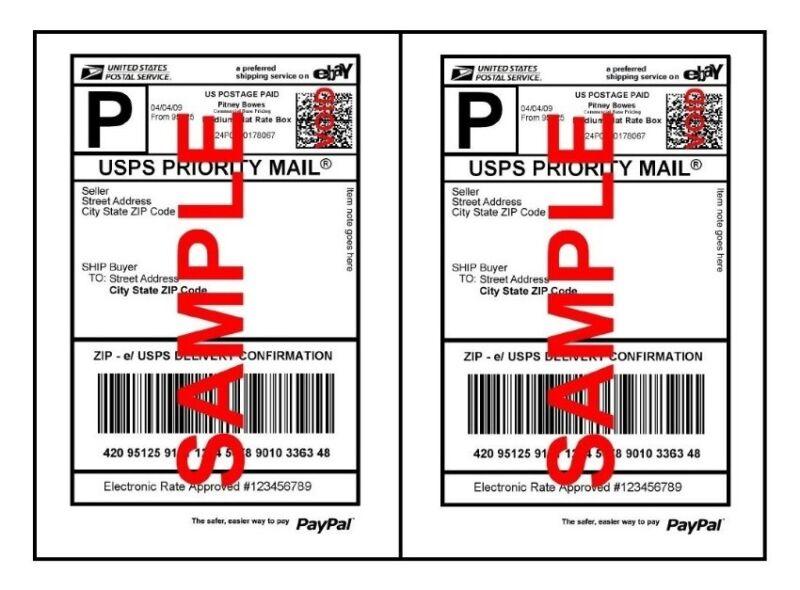 400 Half Sheet Shipping Labels Self-Adhesive 8.5 x 5.5 Blank 2 Labels Per Sheet