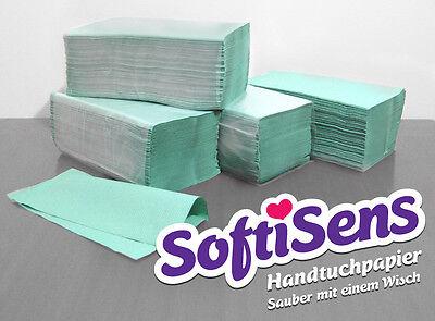 10.000 Blatt Handtuchpapier Papierhandtücher 25x23cm grün NEU