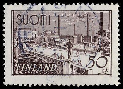 "FINLAND 239iii (Mi259c) - Hame Bridge ""1948 Grey Brown"" (pf39555)"