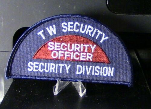 Patch Retired:  TW Security Security Officer (Lanham, MD.) Patch