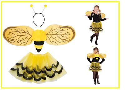 Bienen Dress Up Set Kinder Mädchen Biene Set Tütü Flügel Antenne Rock, (K)
