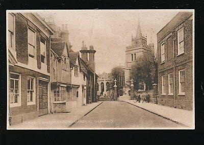 Bucks Buckinghamshire AYLESBURY religion St Mary's Church c1920s?? PPC