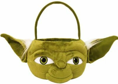 "NWT DISNEY-STAR WARS-YODA HEAD -17"" PLUSH BASKET-HOLIDAY,TREAT,EASTER,HALLOWEEN"