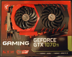 MSI GTX 1070 Ti 8GB - Barely used, in warranty Till Dec 2020