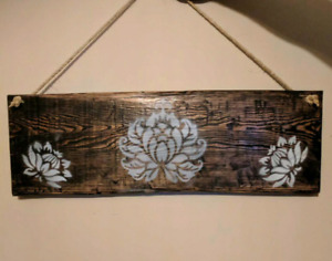 Hand crafted wall hanger